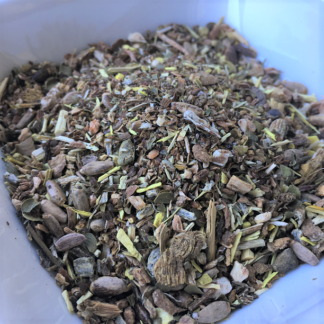 herbal liver tea close up